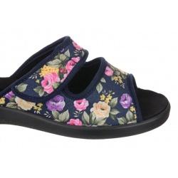 Papuci de casa femei Mjartan 543-L70-L27 negri reglabili cu arici