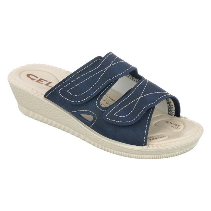 Papuci ortopedici bleumarin Mjartan 2817-N17-N08 brant gel