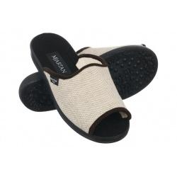 Papuci de casa femei Mjartan 503-T51 bej
