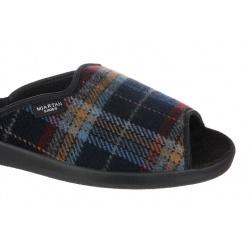 Papuci de casa barbati Mjartan 504-K01 carouri bordo