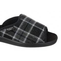 Papuci de casa barbati Mjartan 504-K10 carouri gri negru