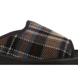 Papuci de casa barbati Mjartan 504-K87 carouri bej maro