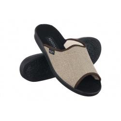 Papuci de casa barbati Mjartan 504-T55 bej