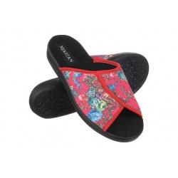 Papuci de casa femei Mjartan 507-L59 rosii