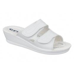 Papuci ortopedici, albi, Mjartan 2817-P03-N07 brant gel
