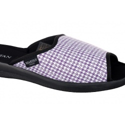 Papuci casa femei Mjartan 503-K66 carouri