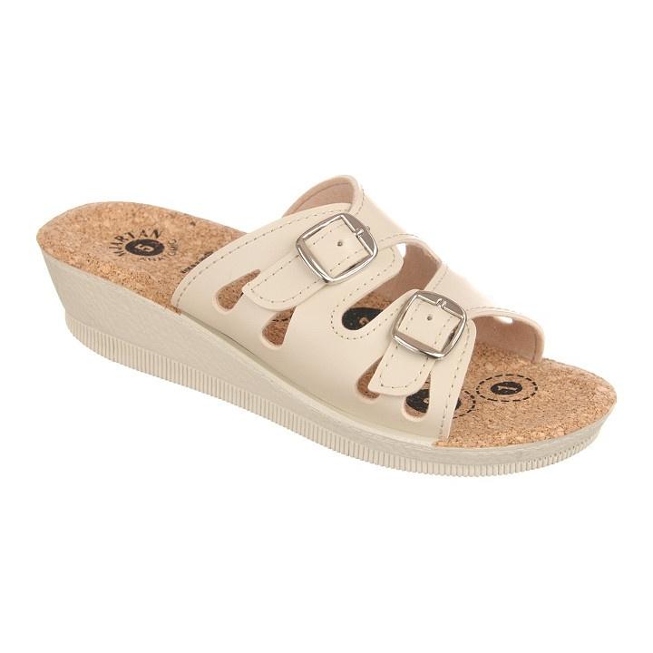 Papuci de vara dama Mjartan 2802-P01K bej