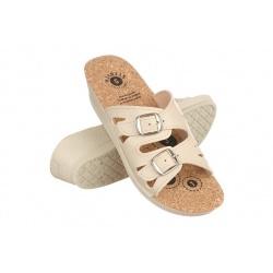 Papuci ortopedici de vara dama Mjartan 2802-P01K bej