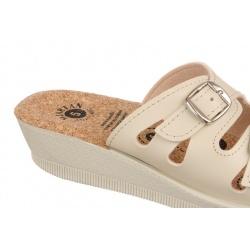 Papuci de vara femei Mjartan 2802-P01K talpa pluta naturala