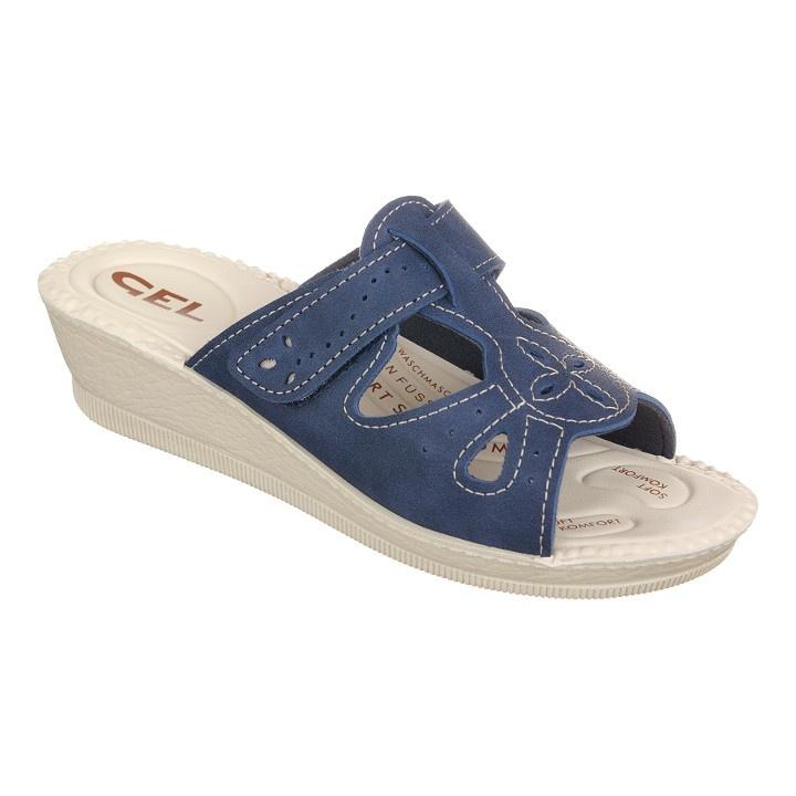 Papuci de vara, bleumarin, pentru femei 2818-N17