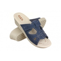 Papuci de vara, bleumarin, pentru femei 2818-N17 brant gel