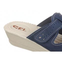 Papuci de vara, bleumarin, pentru femei 2818-N17 reglabili cu arici