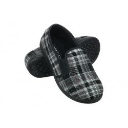 Pantofi de casa Mjartan 623-K93 pentru femei si barbati carouri gri
