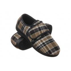Pantofi de casa, barbatesti, Mjartan 652-K85, carouri maro