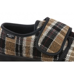 Pantofi de casa, barbatesti, Mjartan 652-K85, reglabili cu arici - scai