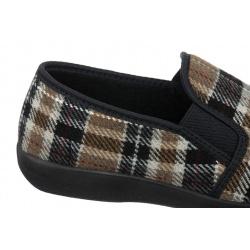 Pantofi de casa Mjartan 623-K85 pentru femei barbati carouri