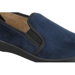 Pantofi de casa, femei, Mjartan 623T37 microfibra bleumarin
