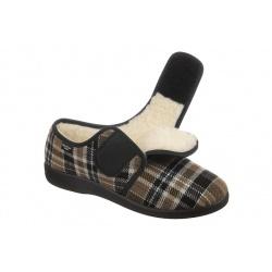 Pantofi de casa, imblaniti, barbatesti, Mjartan 852-K85 reglabili cu arici