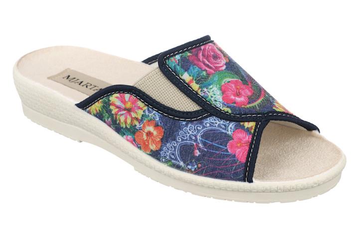 Papuci de casa dama floricele multicolore