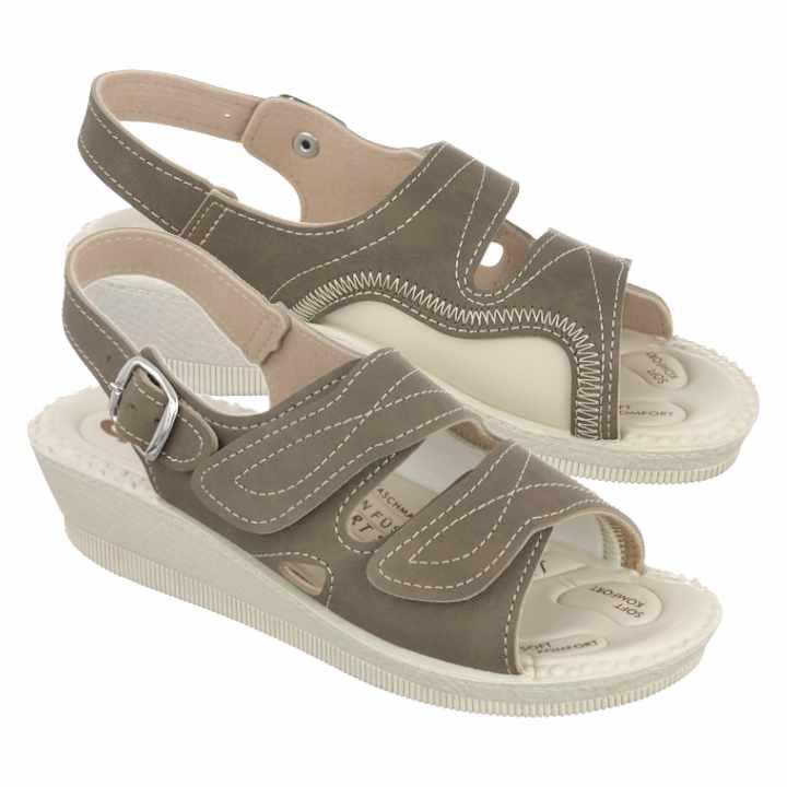 Sandale pentru monturi Hallux Valgus Mjartan 2815-N14 maro